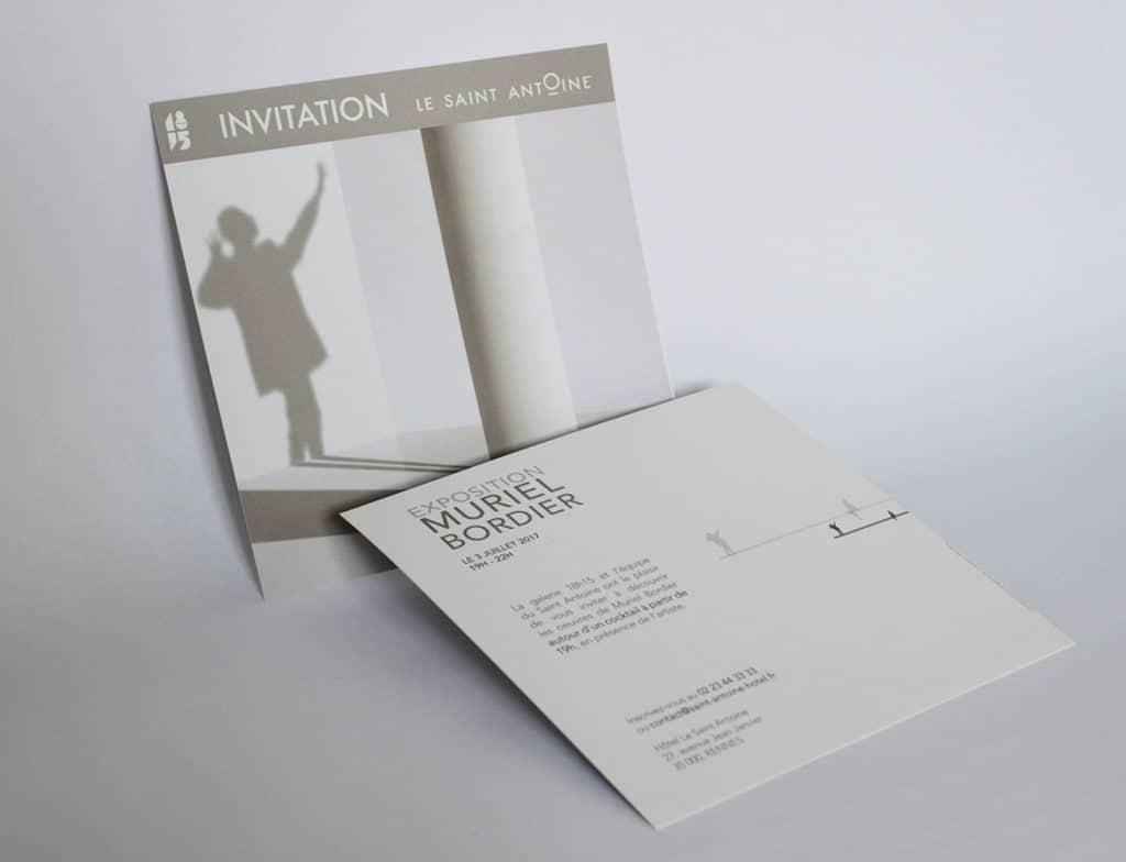 presentation du projet carton d'invitation