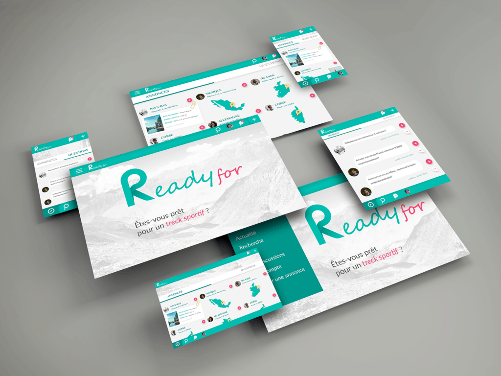 interface du site web ready for