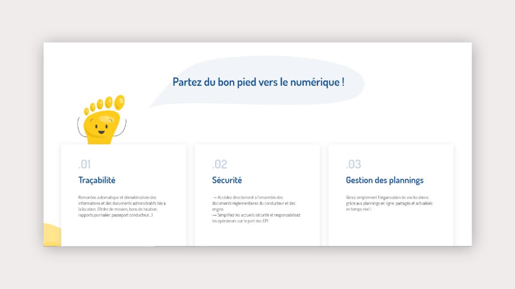 interface du site web de MATOS BTP