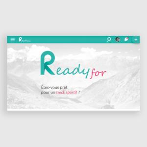 Interface d'accueil de Ready for sur desktop