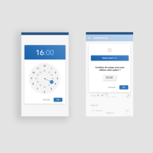 Application mobile MATOS - Time picker et modale