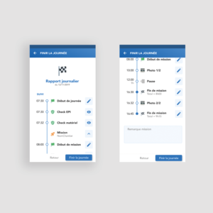 Application mobile MATOS - Finir la journée